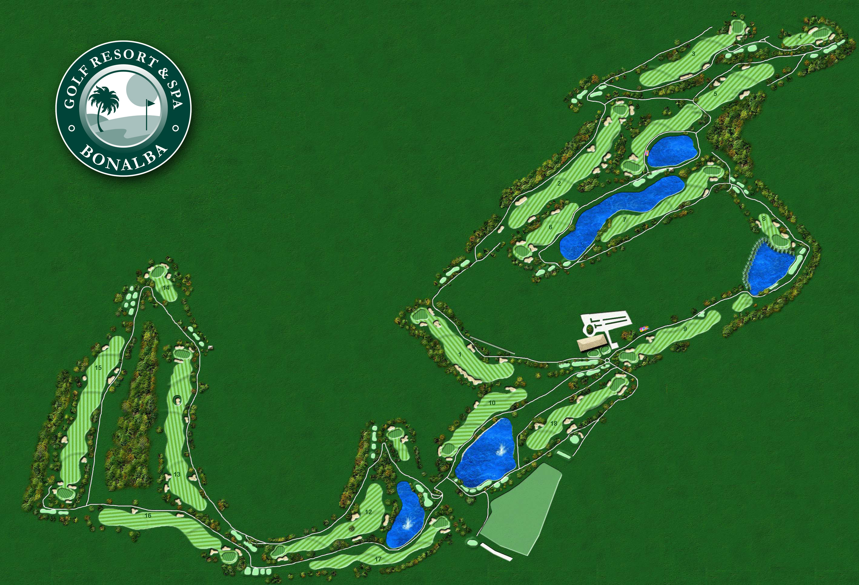Bonalba golf map